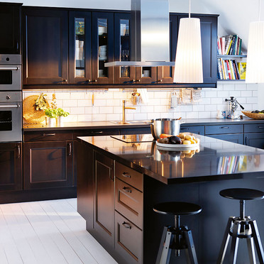 ikea black brown kitchen cabinets ikea door style of the week laxarby ikan installations 17550